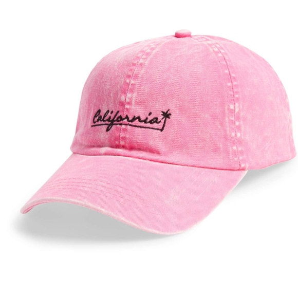 NWT California Embroidered Dad Hat Pink Dad Cap 58e70cd0e45